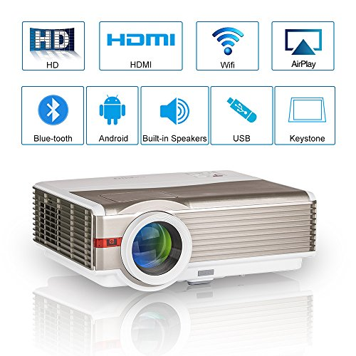 LED Movie Projector Bluetooth Wifi Android 6.0 HD HDMI