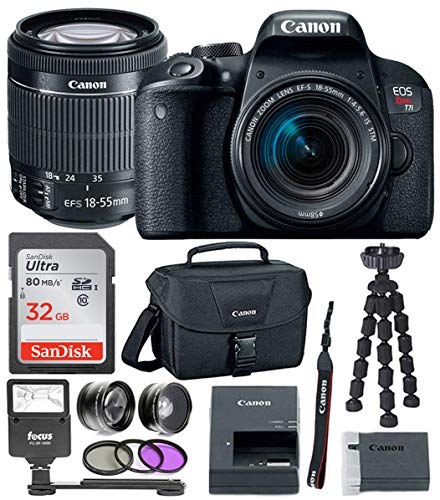 Canon EOS Rebel T7i Digital Camera: 24 Megapixel 1080p HD